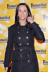 Andrea McLean attends Beautiful - The Carole King Musical Press Nght at The Aldwych Theatre, The Aldwych, London on Tuesday 24 February 2015 February 2015