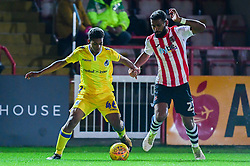 Zain Walker is challenged by Luke Croll of Exeter City - Mandatory by-line: Ryan Hiscott/JMP - 13/11/2018 - FOOTBALL - St James Park - Exeter, England - Exeter City v Bristol Rovers - Checkatrade Trophy