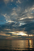 Clouds at sunrise over Lake Erie