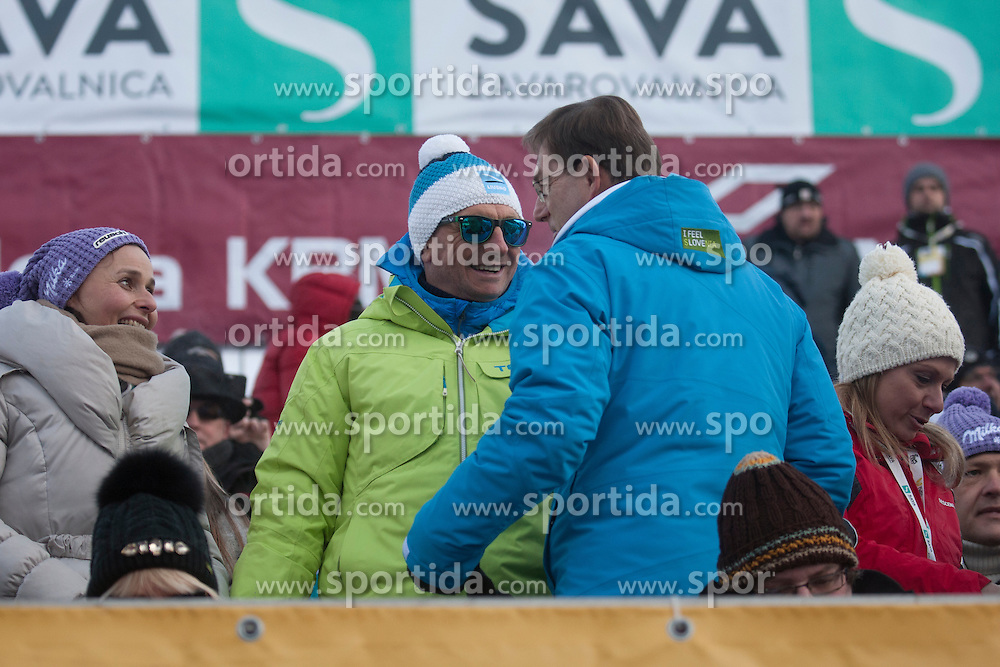 Borut Pahor, Miro Cerar during 6th Ladies' Giant slalom at 53rd Golden Fox - Maribor of Audi FIS Ski World Cup 2015/16, on January 7, 2017 in Pohorje, Maribor, Slovenia. Photo by Marko Vanovsek / Sportida