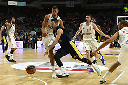 March 2, 2018 - Madrid, Madrid, Spain - Kostas Sloukas (center), #16 of Fenerbahce in action during the 2017/2018 Turkish Airlines EuroLeague Regular Season Round 24 game between Real Madrid and Fenerbahce Dogus Istanbul at WiZink center in Madrid. (Credit Image: © Jorge Sanz/Pacific Press via ZUMA Wire)