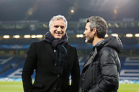 David GINOLA / Dominique ARMAND - 11.03.2015 - Chelsea / Paris Saint Germain - 1/8Finale Champions League<br />Photo : Johnny Fidelin / Icon Sport