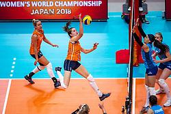 03-10-2018 NED: World Championship Volleyball Women day 5, Yokohama<br /> Argentina - Netherlands 0-3 / Yvon Belien #3 of Netherlands