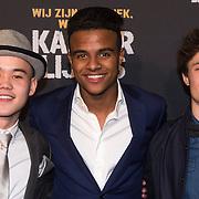 NLD/Amsterdam/20140210 - Filmpremiere Kankerlijers, De hoofdrolspelers (VLNR) Massimo Pesik, Jasha Rudge en Gijs Blom