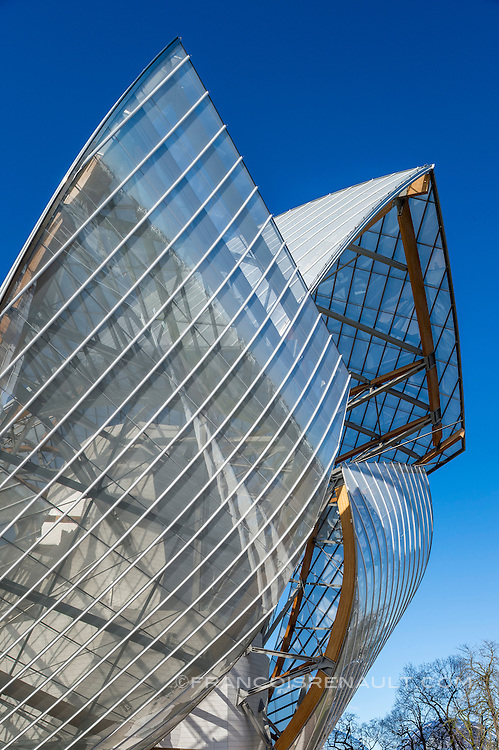La Fondation d'entreprise Louis Vuitton, Paris. Frank Gehry architecte.