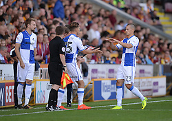 Charlie Colkett of Bristol Rovers replaces Billy Bodin of Bristol Rovers - Mandatory by-line: Alex James/JMP - 17/09/2016 - FOOTBALL - Coral Windows Stadium - Bradford, England - Bradford City v Bristol Rovers - Sky Bet League One