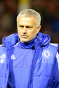 Chelsea Manager Jose Mourinho during the Capital One Cup match between Walsall and Chelsea at the Banks's Stadium, Walsall, England on 23 September 2015. Photo by Alan Franklin.
