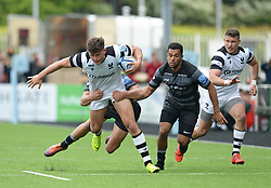 Piers O'Conor of Bristol Bears tries to shake off Chris Harris of Newcastle Falcons - Mandatory by-line: Richard Lee/JMP - 18/05/2019 - RUGBY - Kingston Park Stadium - Newcastle upon Tyne, England - Newcastle Falcons v Bristol Bears - Gallagher Premiership Rugby