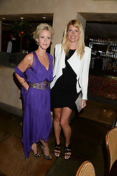 Left to right, ELIZABETH ESTEVE and MEREDITH OSTROM at an evening of Dinner & Dancing at Daphne's, 112 Draycott Avenue, London SW3 on 24th July 2013.