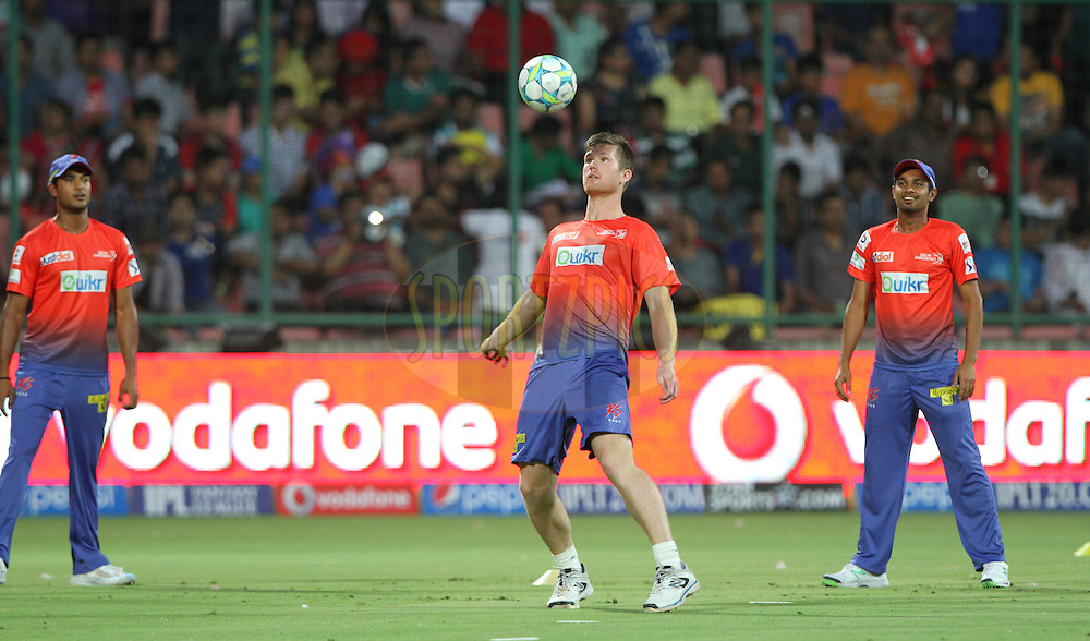 Jimmy Neesham of the Delhi Daredevils during match 23 of the Pepsi Indian Premier League Season 2014 between the Delhi Daredevils and the Rajasthan Royals held at the Feroze Shah Kotla cricket stadium, Delhi, India on the 3rd May  2014<br /> <br /> Photo by Deepak Malik / IPL / SPORTZPICS<br /> <br /> <br /> <br /> Image use subject to terms and conditions which can be found here:  http://sportzpics.photoshelter.com/gallery/Pepsi-IPL-Image-terms-and-conditions/G00004VW1IVJ.gB0/C0000TScjhBM6ikg