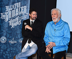 "Country music icon, Kenny Rogers announces star studded concert in Nashville celebrating his 60 year career. ""All In For The Gambler: Kenny Rogers"" Farewell Concert Celebration at a press conference held at the WME Offices. Kenny announced he and Dolly Parton to share the stage one last time in their last performance together. 18 Jul 2017 Pictured: Kenny Rogers and Keith Wortman. Photo credit: Tammie Arroyo/AFF-USA.com / MEGA TheMegaAgency.com +1 888 505 6342"