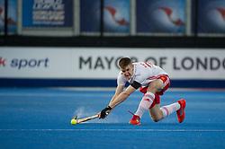 England's Liam Sanford. England v China - Hockey World League Semi Final, Lee Valley Hockey and Tennis Centre, London, United Kingdom on 15 June 2017. Photo: Simon Parker