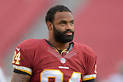 Washington Redskins tight end Niles Paul (84) with his helmet off prior to an NFL preseason game against the Tampa Bay Buccaneers at Raymond James Stadium on Aug. 29, 2013 in Tampa, Florida. <br /> <br /> &copy;2013 Scott A. Miller