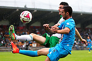 Onderwerp/Subject: Saint Etienne - Willem II - Friendly<br /> Reklame:  <br /> Club/Team/Country: <br /> Seizoen/Season: 2014/2015<br /> FOTO/PHOTO: Clement CABATON (BEHIND) of Saint Etienne in duel with Ben SAHAR (FRONT) of Willem II. (Photo by PICS UNITED)<br /> <br /> Trefwoorden/Keywords: <br /> #04 $94 ±1405930132301<br /> Photo- & Copyrights © PICS UNITED <br /> P.O. Box 7164 - 5605 BE  EINDHOVEN (THE NETHERLANDS) <br /> Phone +31 (0)40 296 28 00 <br /> Fax +31 (0) 40 248 47 43 <br /> http://www.pics-united.com <br /> e-mail : sales@pics-united.com (If you would like to raise any issues regarding any aspects of products / service of PICS UNITED) or <br /> e-mail : sales@pics-united.com   <br /> <br /> ATTENTIE: <br /> Publicatie ook bij aanbieding door derden is slechts toegestaan na verkregen toestemming van Pics United. <br /> VOLLEDIGE NAAMSVERMELDING IS VERPLICHT! (© PICS UNITED/Naam Fotograaf, zie veld 4 van de bestandsinfo 'credits') <br /> ATTENTION:  <br /> © Pics United. Reproduction/publication of this photo by any parties is only permitted after authorisation is sought and obtained from  PICS UNITED- THE NETHERLANDS