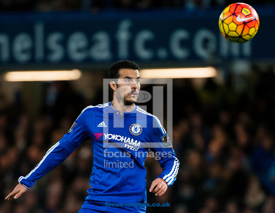 Pedro of Chelsea  during the Barclays Premier League match at Stamford Bridge, London<br /> Picture by Jack Megaw/Focus Images Ltd +44 7481 764811<br /> 05/12/2015