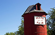 A wooden Silo at Heath Fairgrounds in Heath, Massachusetts.