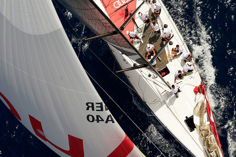 PALMA DE MALLORCA, SPAIN. 2012. Day one and Practice Race of Royal Cup of 52 Superseries on10 july, 2012 in Palma de Mallorca, Spain (photo by Xaume Olleros/52 Superseries)