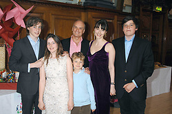 NICHOLAS & GEORGIA COLERIDGE with their children, left to right, ALEX, SOPHIE, TOMMY and FREDDIE at a party to celebrate the publication of 'Seven Secrets of Successful Parenting' by Karen Doherty and Georgia Coleridge, held at Chelsea Town Hall, King's Road, London on 28th April 2008.<br /><br />NON EXCLUSIVE - WORLD RIGHTS