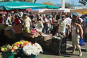 SAINT-DENIS DE LA REUNION, FRANCE - DECEMBER 04, 2010: Unidentified people do shopping at the market in Saint-Denis De La Reunion, France.