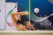 Giulia Capacci from Gymnica 96 team during the Italian Rhythmic Gymnastics Championship in Padova, 25 November 2017.