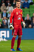 MELBOURNE, VIC - NOVEMBER 09: Wellington Phoenix goalkeeper Filip Kurto (1) looks on at the Hyundai A-League Round 4 soccer match between Melbourne City FC and Wellington Phoenix on November 09, 2018 at AAMI Park in Melbourne, Australia. (Photo by Speed Media/Icon Sportswire)