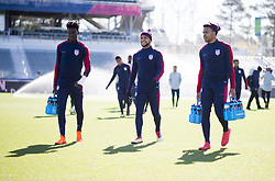 March 26, 2018 - Cary, North Carolina, United States - Cary, NC - March 26, 2018: The USMNT trains before an international friendly against Paraguay at WakeMed Soccer Park. (Credit Image: © Brad Smith/ISIPhotos via ZUMA Wire)