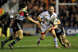 Andy Goode of Wasps in attack - Photo mandatory by-line: Patrick Khachfe/JMP - Mobile: 07966 386802 17/01/2015 - SPORT - RUGBY UNION - London - The Twickenham Stoop - Harlequins v Wasps - European Rugby Champions Cup