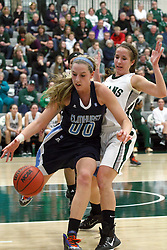 21 February 2015:  Fiona McMahon during an NCAA women's division 3 CCIW basketball game between the Elmhurst Bluejays and the Illinois Wesleyan Titans in Shirk Center, Bloomington IL