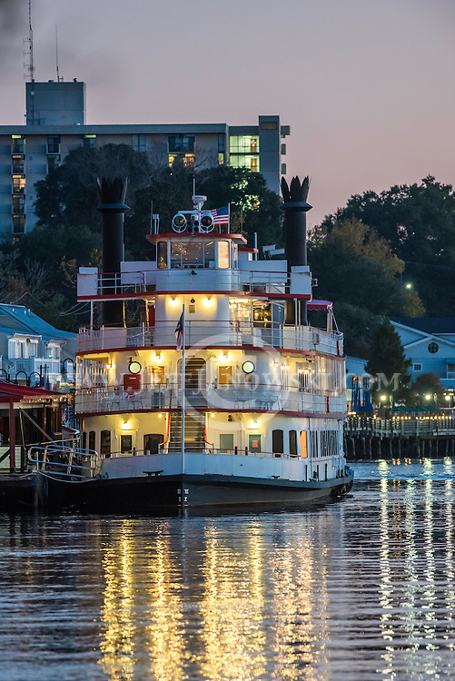 Henrietta III, Cape Fear River Cruises, sightseeing cruise ship that tours along Wilmington's Riverfront for dinner cruises and sightseeing tours.  PHOTO BY:  JEFF JANOWSKI PHOTOGRAPHY