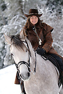 horseback riding in the snow RESTRICTED USE