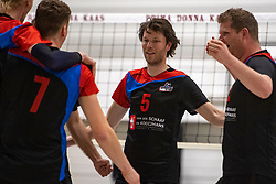 13-04-2019 NED: Prima Donna Kaas Huizen - Spaarnestad , Huizen<br /> Huizen win the match 3-2 and is the champion of the second division C / Michiel Bosman #5 of Spaarnestad