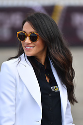 The Duchess of Sussex arrives for the Invictus Games Jaguar Land Rover Driving Challenge on Cockatoo Island during a visit to Sydney on the fifth day of the royal couple's visit to Australia.