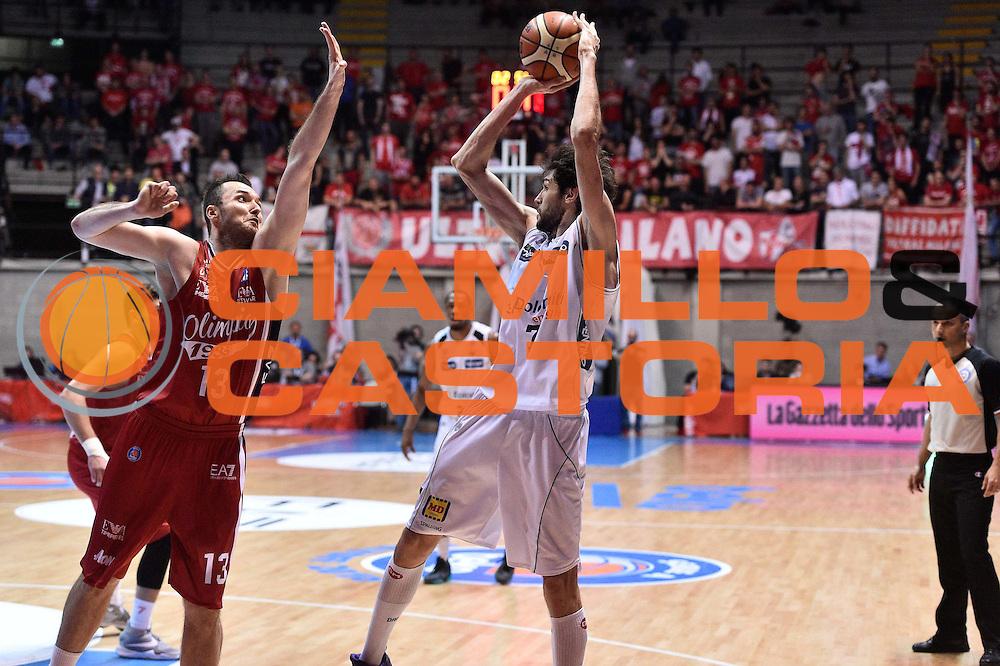 Milano 10.05.2016<br /> Basket Serie A - Playoff Gara 2<br /> EA7 Emporio Armani Milano - Dolomiti Energia Trento<br /> <br /> Nella foto: Davide Pascolo