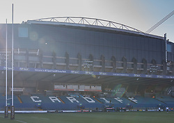 A general view of Cardiff Arms Park, home of Wales<br /> <br /> Photographer Simon King/Replay Images<br /> <br /> Six Nations Round 3 - Wales Women v England Women - Sunday 24th February 2019 - Cardiff Arms Park - Cardiff<br /> <br /> World Copyright © Replay Images . All rights reserved. info@replayimages.co.uk - http://replayimages.co.uk