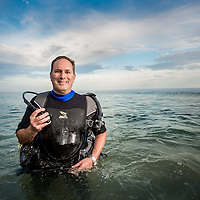 Master diver and Fandango CFO, Rob Leff, CPA, CGMA at Point Dume in Malibu California where he likes to dive, Wednesday, July 1, 2015. (Eric Reed/AP Images for American Institute of Certified Public Accountants)