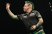 Peter Wright during the PDC Premier League Darts at Arena Birmingham, Birmingham, United Kingdom on 25 April 2019.