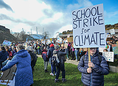 School pupils strike for climate change outside Scottish Parliament, Edinburgh, 15 March 2019