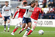 Preston North End midfielder Daniel Johnson (11) in action during the EFL Sky Bet Championship match between Preston North End and Charlton Athletic at Deepdale, Preston, England on 18 January 2020.