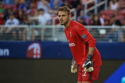 SANTA CLARA, USA - Saturday, July 30, 2016: AC Milan's goalkeeper Gabriel in action against Liverpool during the International Champions Cup 2016 game on day ten of the club's USA Pre-season Tour at the Levi's Stadium. (Pic by David Rawcliffe/Propaganda)