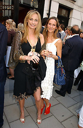 Left to right, CLEMENTINE HAMBRO and AMANDA CROSSLEY at a private view of artist Damian Elwes work 'Artists Studios' held at Scream, 34 Bruton Street, London W1 on 29th June 2006.<br />