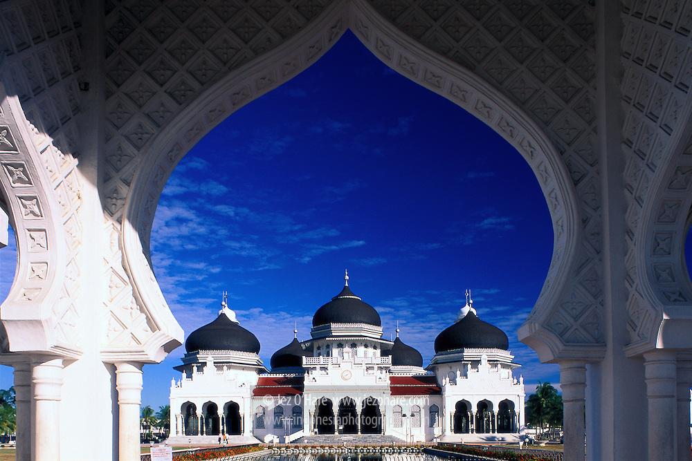 Baiturrahman mosque, Banda Aceh, Nanggroe Aceh Darussalam, Sumatra, Indonesia.