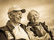 """WWII P-51 pilot Bob """"Punchy"""" Powell and his wife Ruth."""