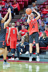 NORMAL, IL - October 12: Ally Gietzel during Illinois State Athletics Hoopfest on October 12 2018 at Redbird Arena in Normal, IL. (Photo by Alan Look)