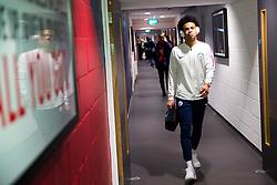 Leroy Sane of Manchester City arrives - Rogan/JMP - 23/01/2018 - Ashton Gate Stadium - Bristol, England - Bristol City v Manchester City - Carabao Cup Semi Final Second Leg.