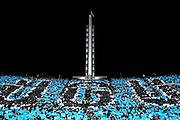 20180607/ Javier Calvelo - adhocFOTOS/  MONTEVIDEO/  ESTADIO CENTENARIO/ La selecci&oacute;n de Uruguay se despide de sus hinchas previo al viaje a disputar el Mundial FIFA Rusia 2018 con un encuentro amistoso ante Uzbekist&aacute;n en el Estadio Centenario<br /> En la foto: Hinchas de Uruguay en el Centenario durante el partido despedida hacia el mundial de Rusia 2018. Foto: Javier Calvelo / adhocFOTOS