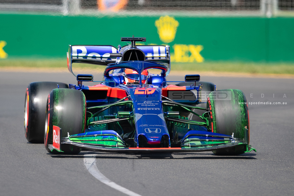 ALBERT PARK, VIC - MARCH 15: Red Bull Toro Rosso Honda driver Daniil Kvyat (26) at The Australian Formula One Grand Prix on March 15, 2019, at The Melbourne Grand Prix Circuit in Albert Park, Australia. (Photo by Speed Media/Icon Sportswire)