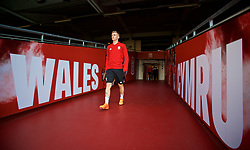 CARDIFF, WALES - Wednesday, October 10, 2018: Wales' Matthew Smith arrives for a training session at the Principality Stadium ahead of the International Friendly match between Wales and Spain. (Pic by David Rawcliffe/Propaganda)