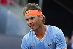 May 9, 2019 - Madrid, Spain - Rafael Nadal of Spain returns the ball during his match against Frances Tiafoe of The United States during day six of the Mutua Madrid Open at La Caja Magica on May 09, 2019 in Madrid, Spain. (Credit Image: © Oscar Gonzalez/NurPhoto via ZUMA Press)