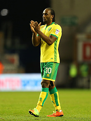 Cameron Jerome of Norwich City applauds the fans - Mandatory by-line: Matt McNulty/JMP - 07/02/2017 - FOOTBALL - DW Stadium - Wigan, England - Wigan Athletic v Norwich City - Sky Bet Championship