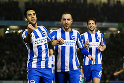 Goal, Sam Baldock of Brighton & Hove Albion scores, Brighton & Hove Albion 2-0 Derby County - Mandatory by-line: Jason Brown/JMP - 10/03/2017 - FOOTBALL - Amex Stadium - Brighton, England - Brighton and Hove Albion v Derby County - Sky Bet Championship